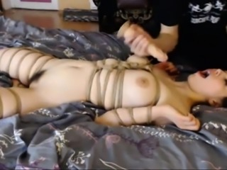 Slave Daisy wrapped in ropes and punished