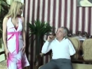 Old fart takes care of younger elegant girl!
