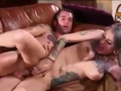 Slutty Tattooed emo girl Lady Luna fucked Hard