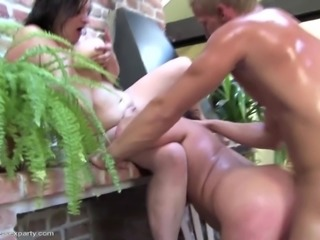 Private amateur sex party with mature moms