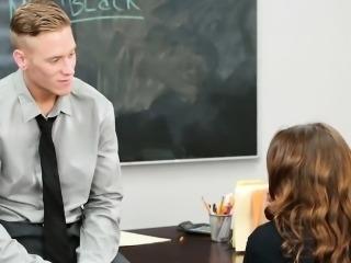 Two depraved teachers make schoolgirl serve their hard cocks