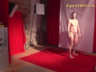 First casting blowjob for horny czech amateur