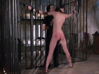 Teen is punished and humiliated in rough fuck bdsm bondage