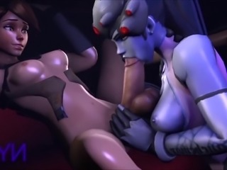 Overwatch tracer gets kinky 3d animated pov 3