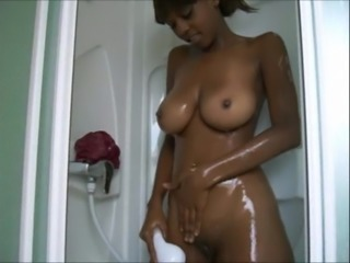Sexy African dancing in the shower
