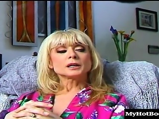 Nina Hartley has a lot of horny friends, and they cant...