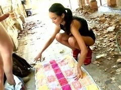 Cute Brasilian Pocahontas analfucked outdoor