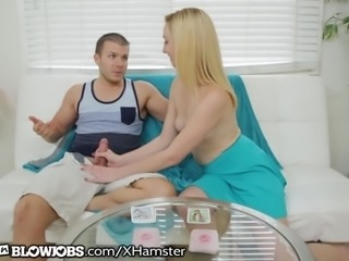 OnlyTeenBlowjobs Blonde Teen Playing And Sucking