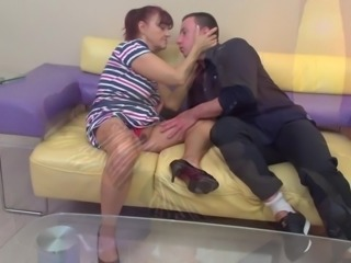 Granny suck and fuck young penis