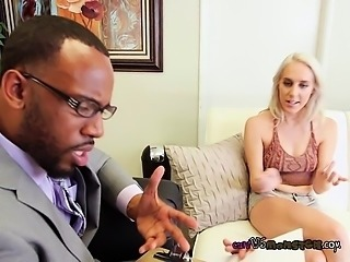Blondie Cadence Lux Enjoys Monster Cock Of Boss