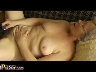 Not so cool amateur granny sex