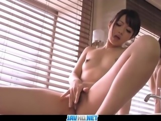 Subtitles - Japanese girl Kotomi finger fucked