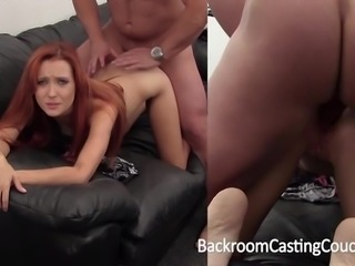 Hot Redhead Ass Fucked and Creampied