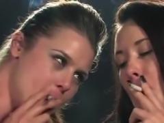 Smoking blonde + brunette - 1