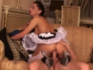 Naughty maid - the wife is out - slutty platform heels