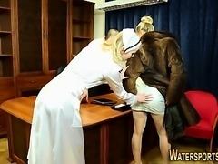 Nurse costume piss soaked