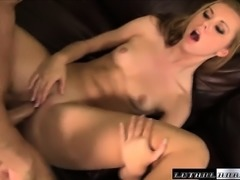 Blonde vixen Jessie Rogers takes a licking and a fucking on the massage table