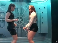 Ravishing ladies getting totally wet during their erotic dance