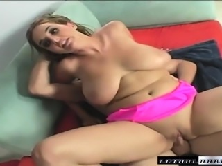 Huge breasted beauty Jenna takes Dave's long pole deep in her snatch