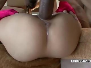 Asian hottie Miley Villa gets her tiny twat fucked hard
