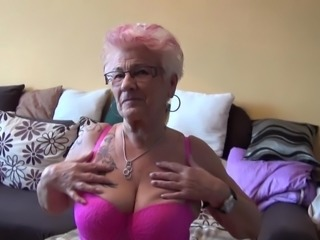 Horny granny goes wild and reveals all of her private areas