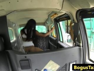 Ebony taxi escort riding cabbies cock