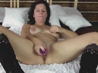 Valentina's mature pussy requires the hardcore dildo masturbation