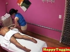Perkytit asian masseuse working clients pole