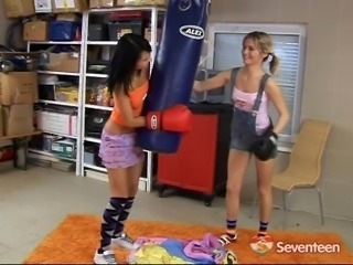 Boxer teen lesbian sluts want to have sex after training