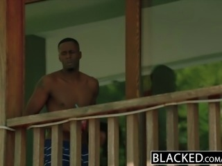 BLACKED.com Blonde Gets First BBC from Brothers Friend