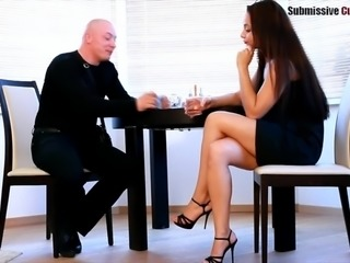 Girlfriend gets ass fucked by another man as the cuck watches
