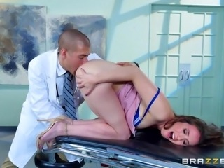Naughty Casey's big ass is a huge turn on for her crazy doctor. The horny guy...