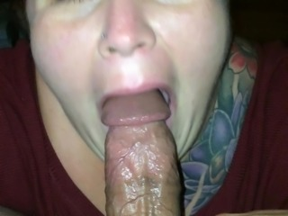 BJ and Messy Facial - Cum Whore Training - 2