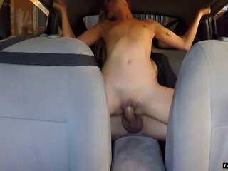 Parking the car and climbing in the back seat to fuck a girl