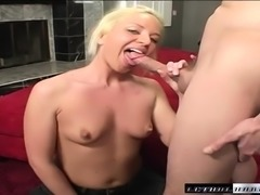 Sexy slim blonde Simone Schiffer feeds her hunger for rough anal sex