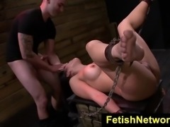 FetishNetwork.com presents Mia Li I was chained to carton my legs spread open...