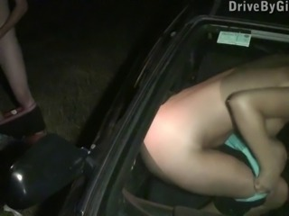 YOUNG blonde BEAUTY public GANGBANG Part 3