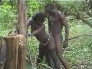 Real african amateur fuck on the tree part 2