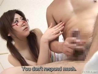 Subtitles Japanese CFNM light femdom handjob