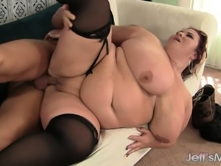 Humongous girl gets drilled hard and damn near can't take it
