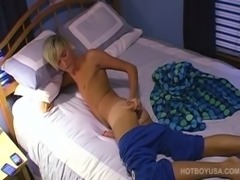 Hung Blond CJ Washington Jerks Off