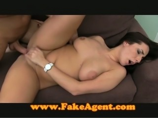 Bootylicious brunette gets fucked rough by an interviewer