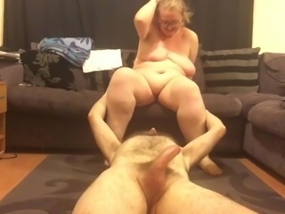 Mrs T smothers Mr T and then gets fucked by toy