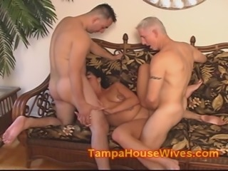 Cheating wife gets a DOUBLE LOAD