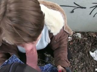 Russian whore Sasha Zima shows nipples and sucks dick before crazy outdoor fuck