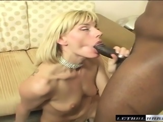 Darryl Hanah strips off her clothes and takes a black stick up her ass