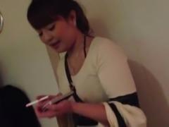 Lovely Japanese girl smoking 261