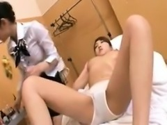 Big breasted Asian cutie surrenders her body to a beautiful