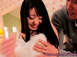 Japanese teen squirts when fingerfucked