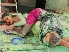 Messy adventure of two sexy friends Gina Kilmer and Tera Joy
